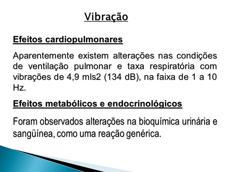 Vibração Efeitos cardiopulmonares.