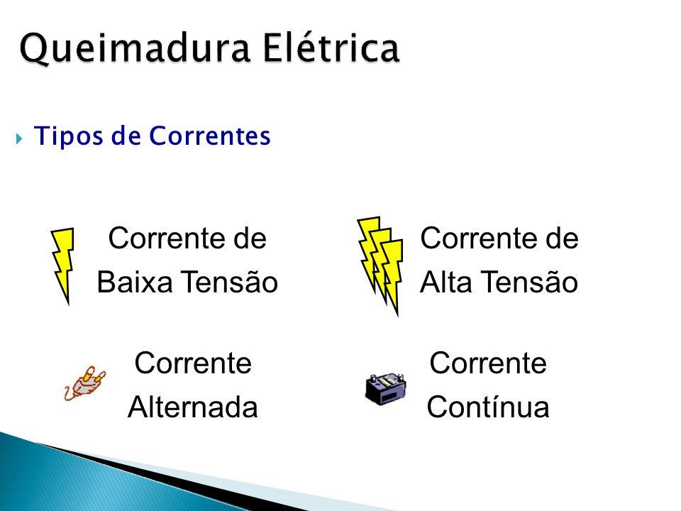 Queimadura Elétrica Corrente de Baixa Tensão Corrente de Alta Tensão