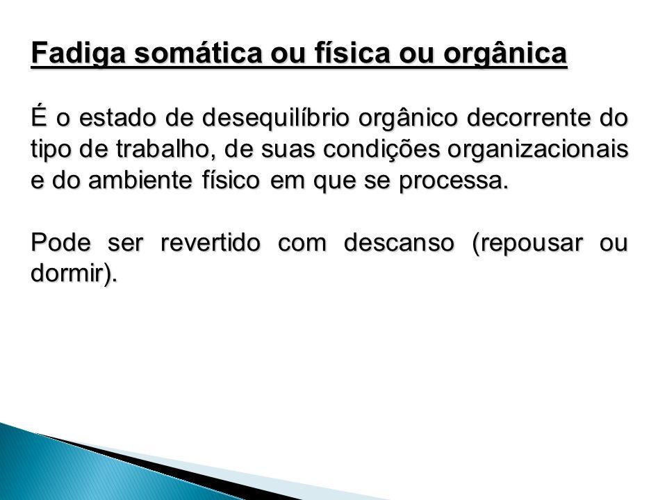 Fadiga somática ou física ou orgânica