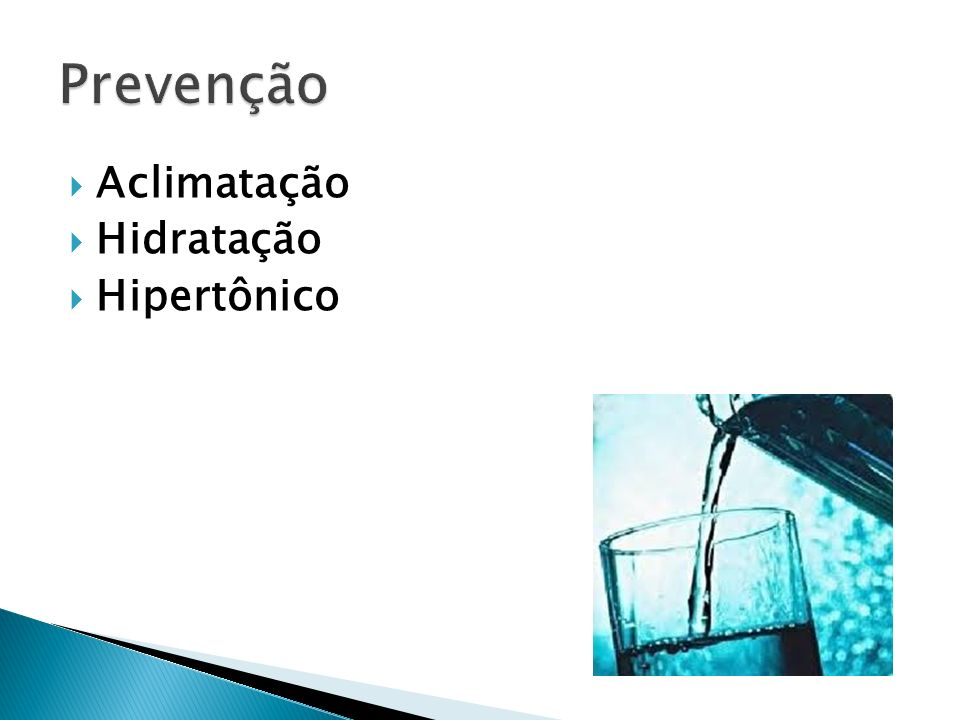 Prevenção Aclimatação Hidratação Hipertônico
