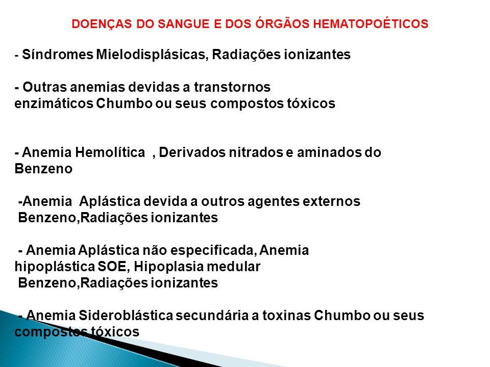 DOENÇAS DO SANGUE E DOS ÓRGÃOS HEMATOPOÉTICOS