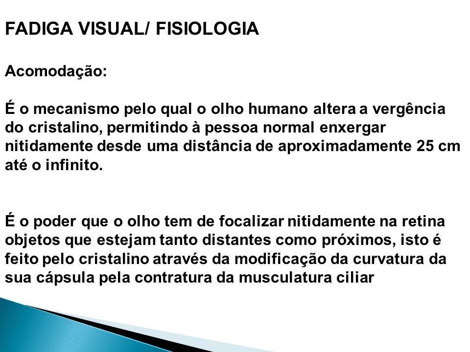FADIGA VISUAL/ FISIOLOGIA