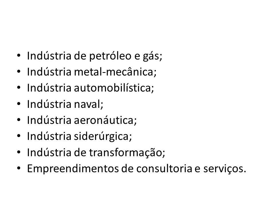 Indústria de petróleo e gás;