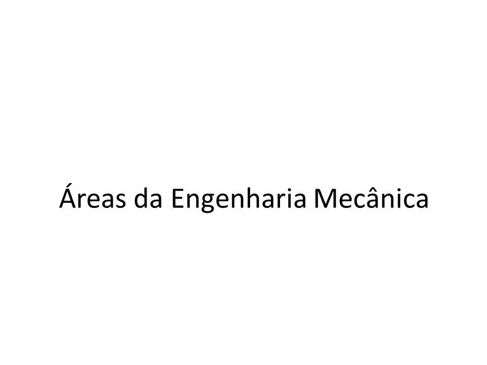 Áreas da Engenharia Mecânica