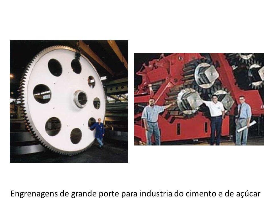 Engrenagens de grande porte para industria do cimento e de açúcar