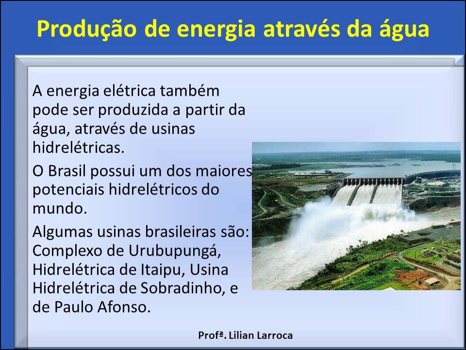 Produção de energia através da água