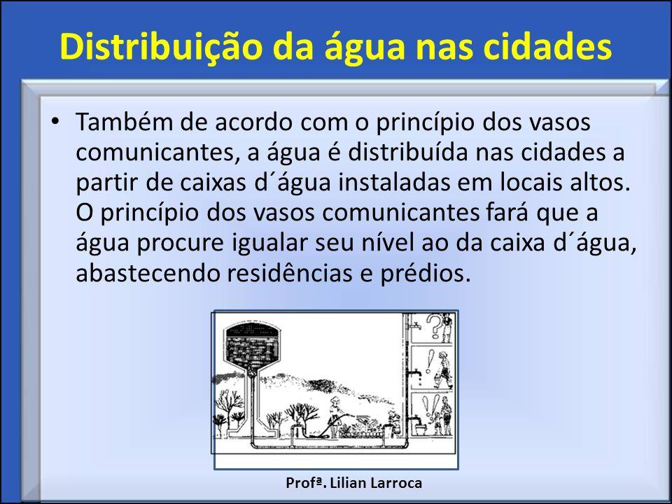 Distribuição da água nas cidades