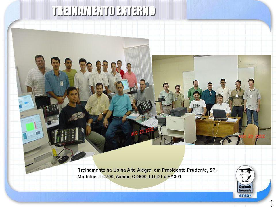 TREINAMENTO EXTERNO Treinamento na Usina Alto Alegre, em Presidente Prudente, SP.