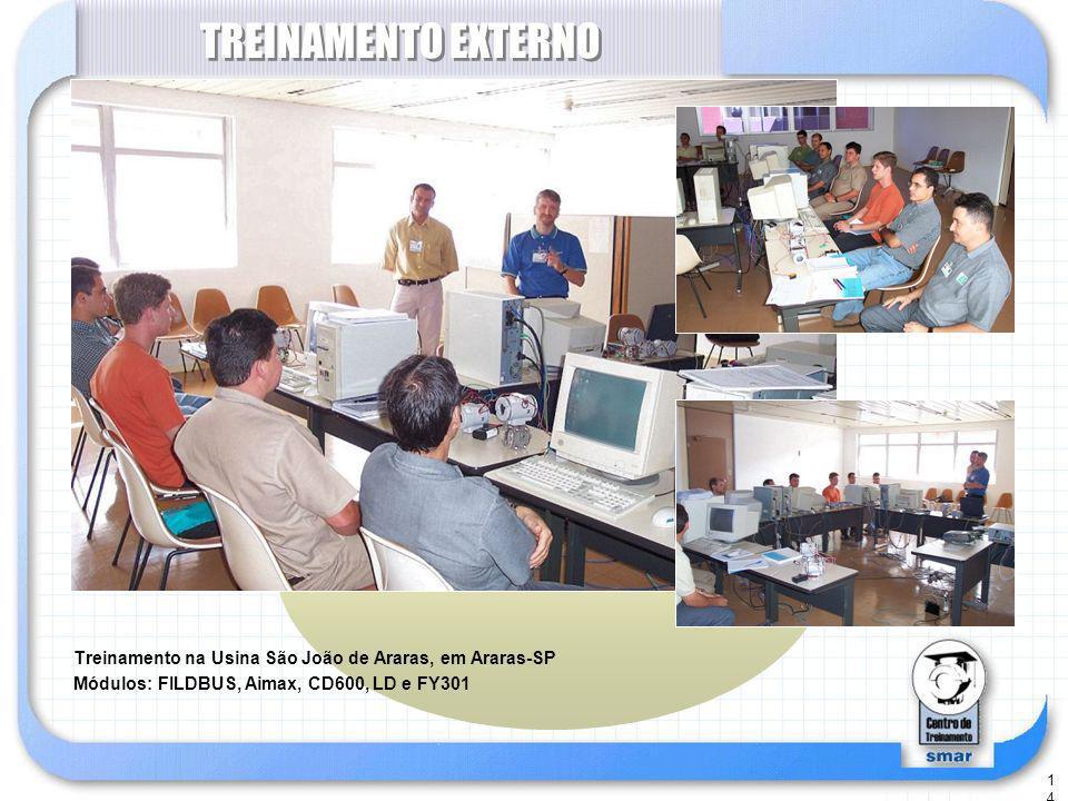 TREINAMENTO EXTERNO Treinamento na Usina São João de Araras, em Araras-SP.