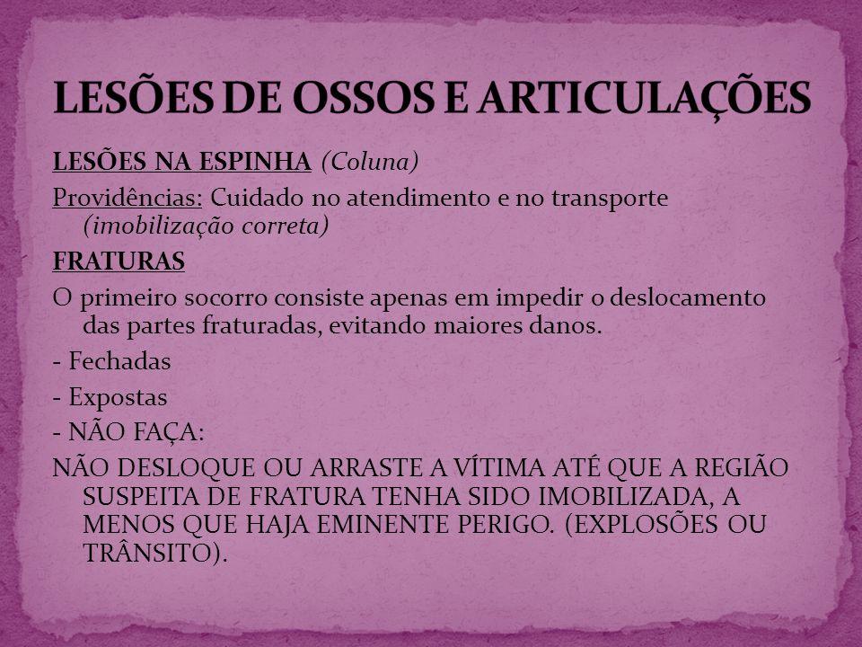 LESÕES DE OSSOS E ARTICULAÇÕES