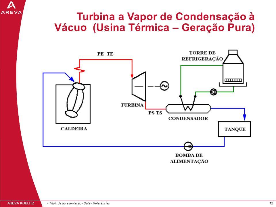 Turbina a Vapor de Condensação à Vácuo (Usina Térmica – Geração Pura)