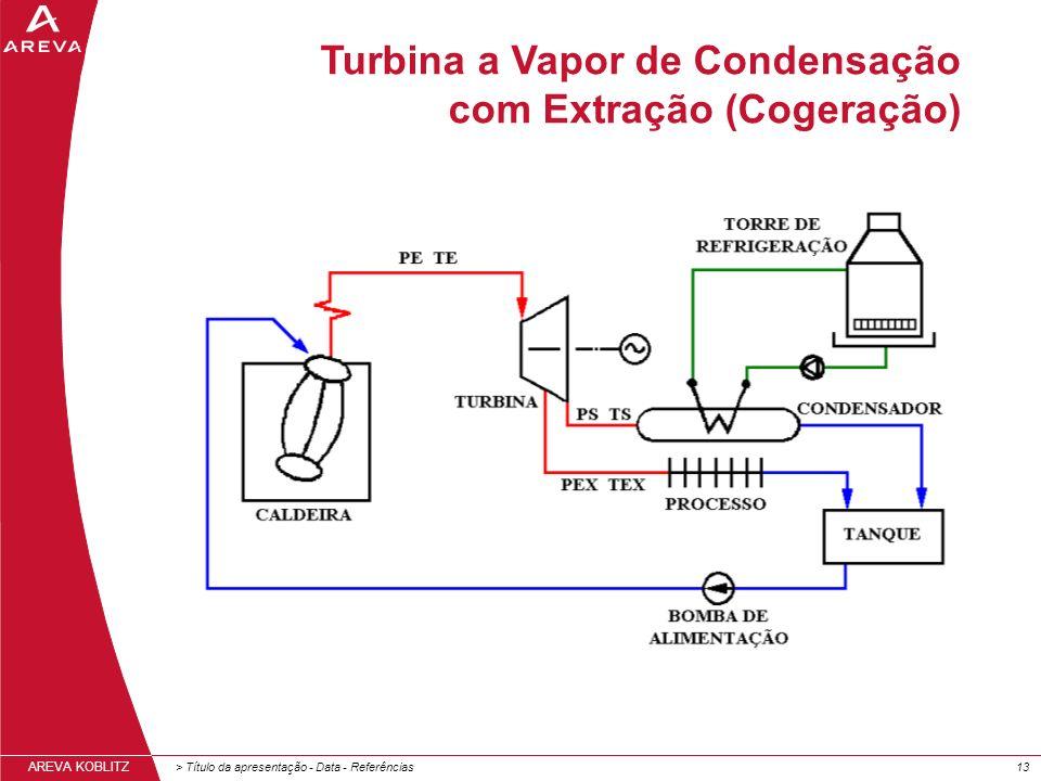Turbina a Vapor de Condensação com Extração (Cogeração)