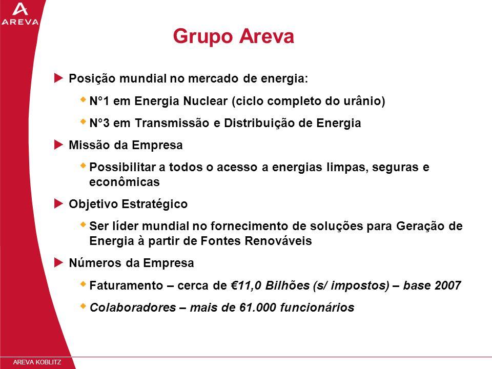 Grupo Areva Posição mundial no mercado de energia:
