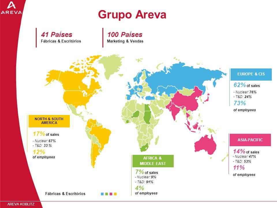 Grupo Areva 41 Países Fábricas & Escritórios