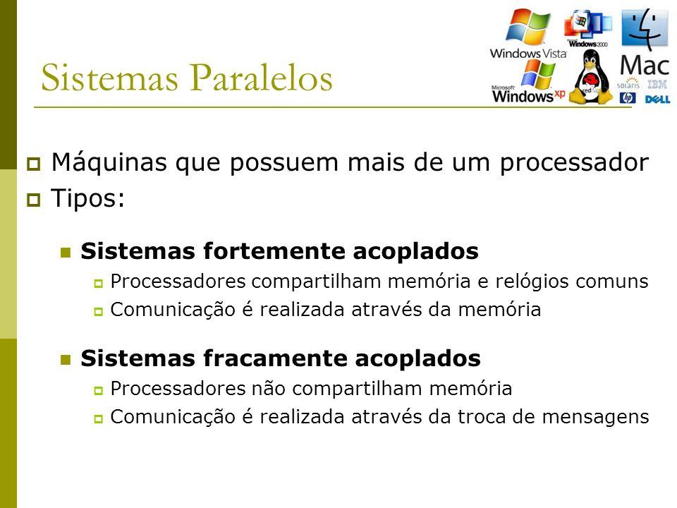 Sistemas Paralelos Máquinas que possuem mais de um processador Tipos: