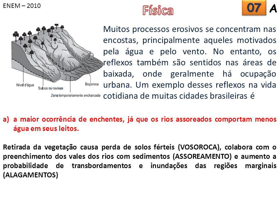 ENEM – 2010 Física. 07. A.