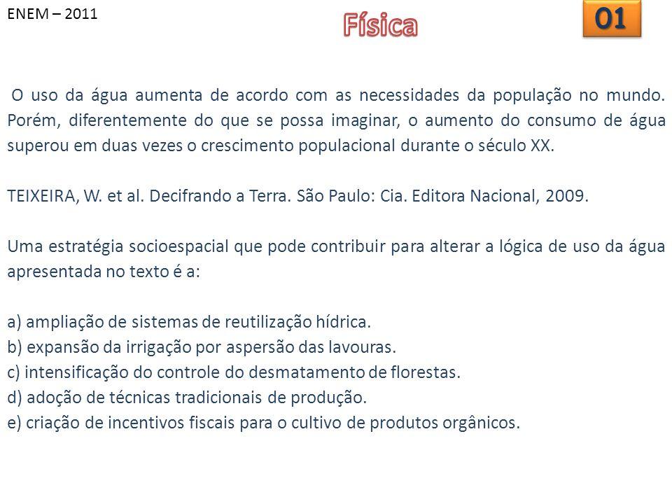 ENEM – 2011 Física. 01.