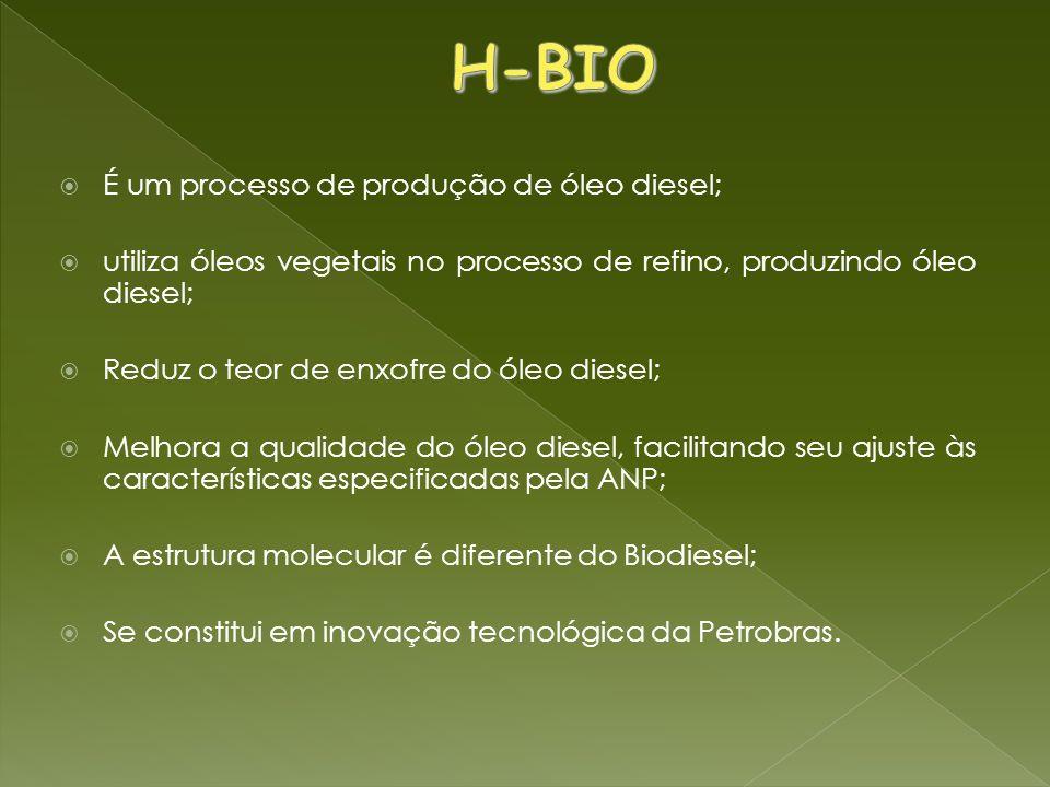 H-BIO É um processo de produção de óleo diesel;
