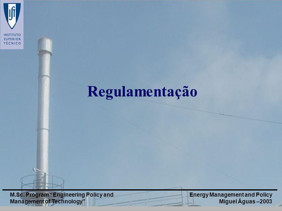 Regulamentação M.Sc. Program Engineering Policy and Management of Technology