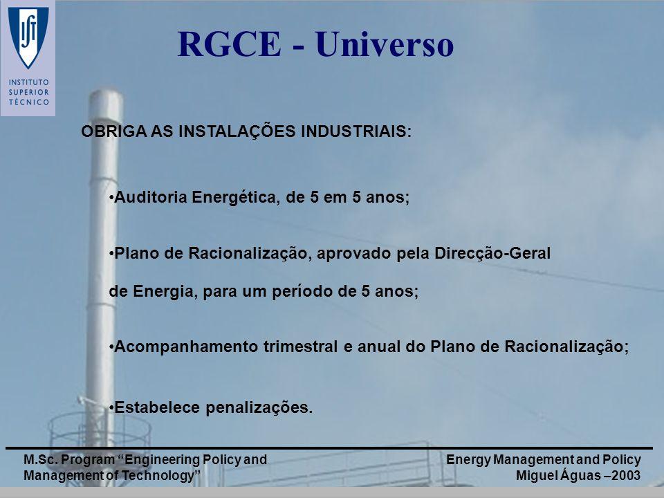 RGCE - Universo OBRIGA AS INSTALAÇÕES INDUSTRIAIS:
