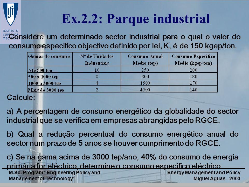 Ex.2.2: Parque industrial