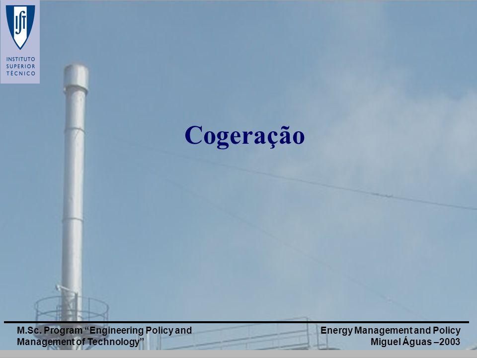 Cogeração M.Sc. Program Engineering Policy and Management of Technology