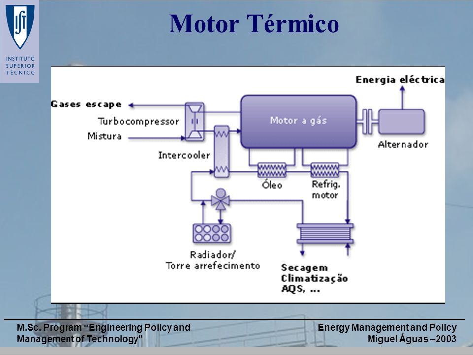 Motor Térmico M.Sc. Program Engineering Policy and Management of Technology