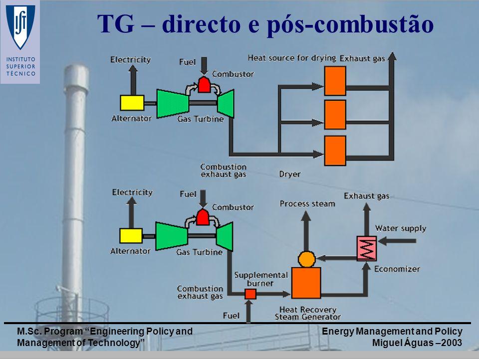 TG – directo e pós-combustão