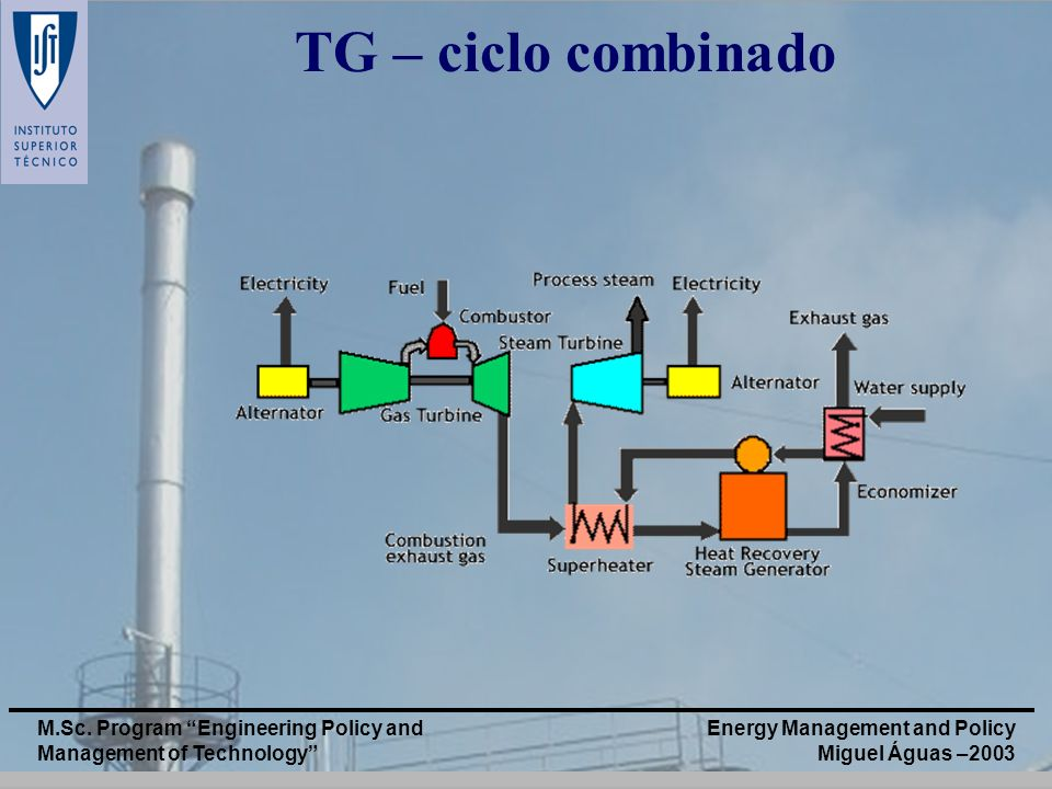 TG – ciclo combinado M.Sc. Program Engineering Policy and Management of Technology
