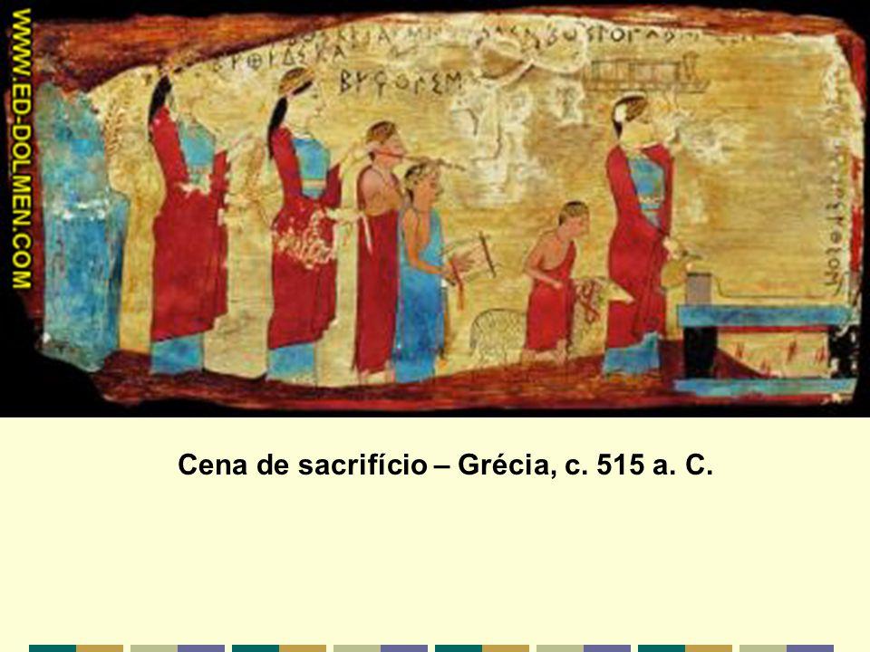 Cena de sacrifício – Grécia, c. 515 a. C.