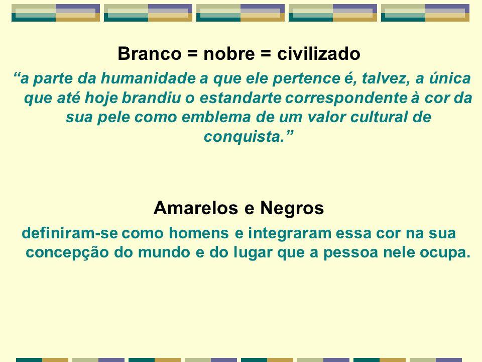 Branco = nobre = civilizado