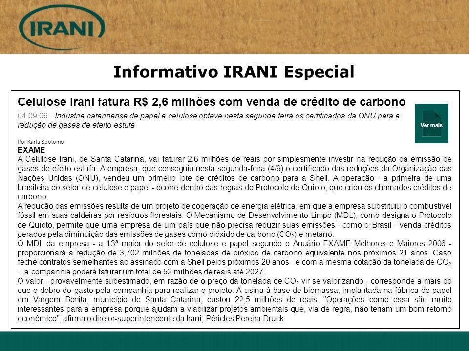 Informativo IRANI Especial