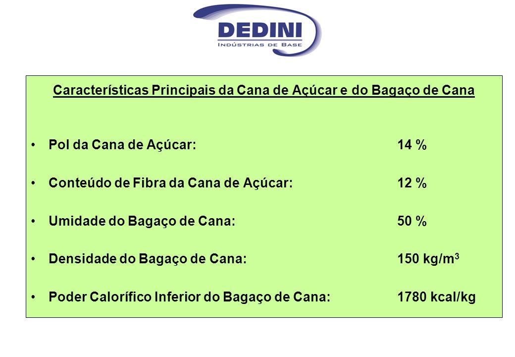 Características Principais da Cana de Açúcar e do Bagaço de Cana