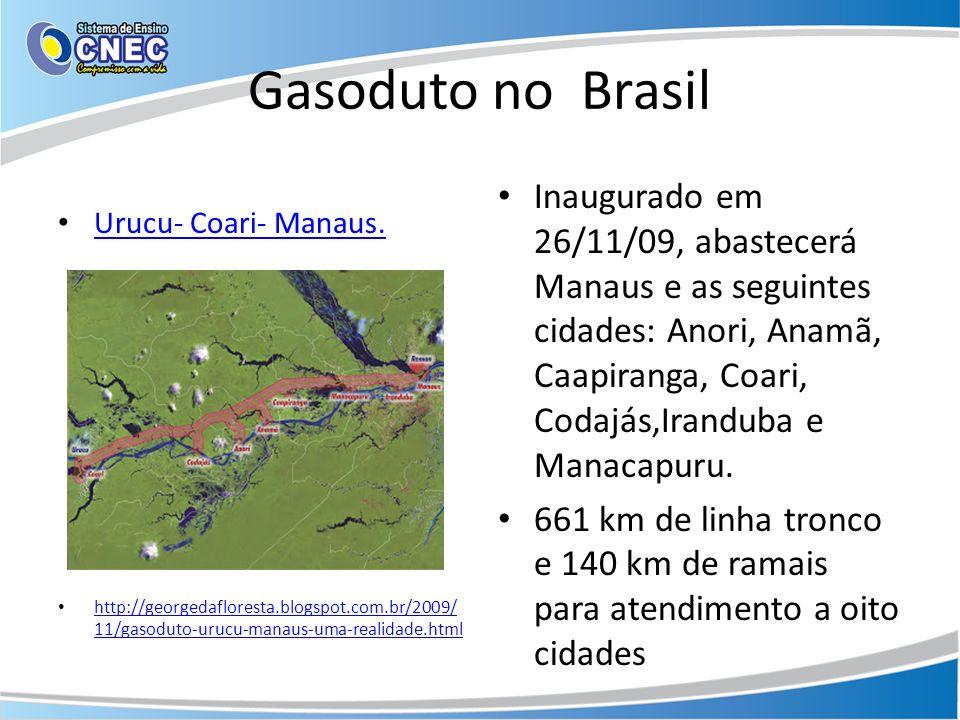 Gasoduto no Brasil Urucu- Coari- Manaus. http://georgedafloresta.blogspot.com.br/2009/11/gasoduto-urucu-manaus-uma-realidade.html.