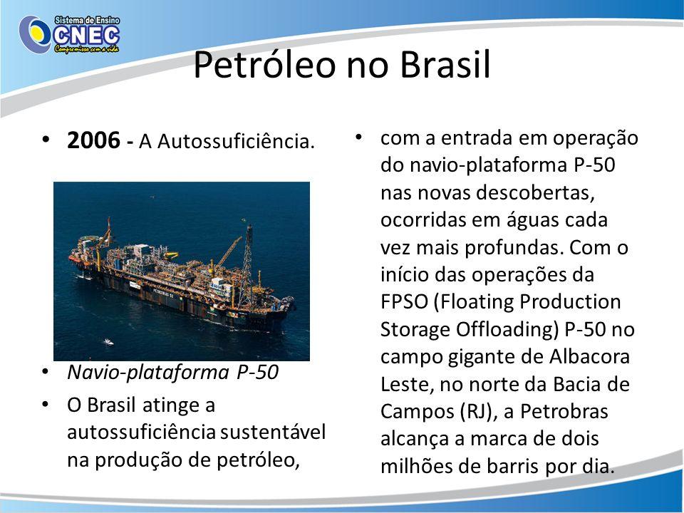 Petróleo no Brasil 2006 - A Autossuficiência.