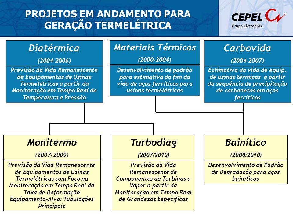 PROJETOS EM ANDAMENTO PARA GERAÇÃO TERMELÉTRICA