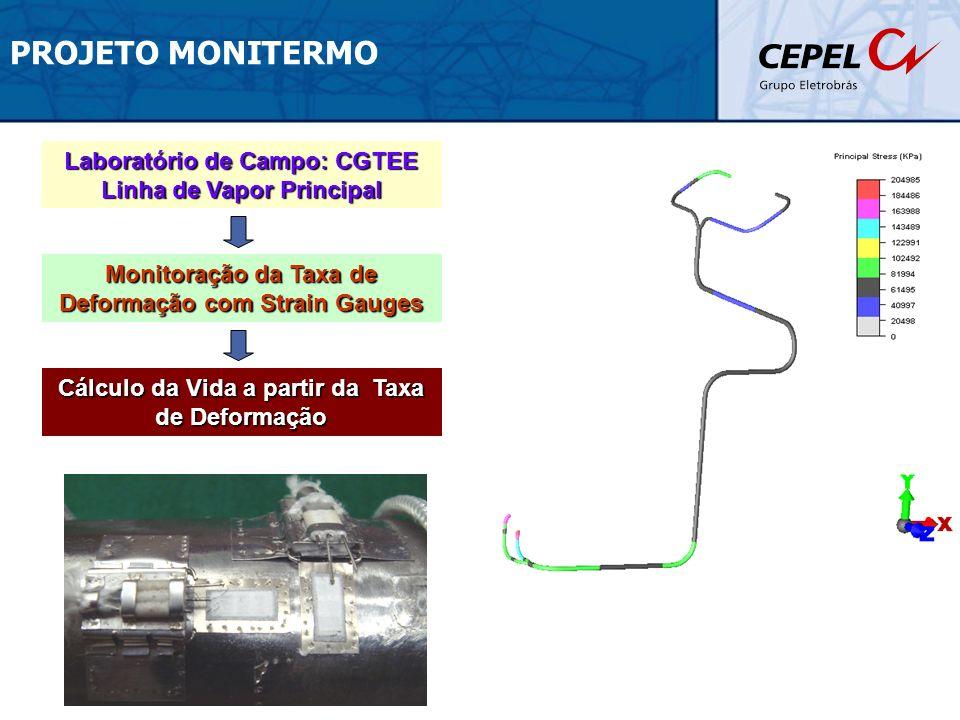 PROJETO MONITERMO Laboratório de Campo: CGTEE Linha de Vapor Principal