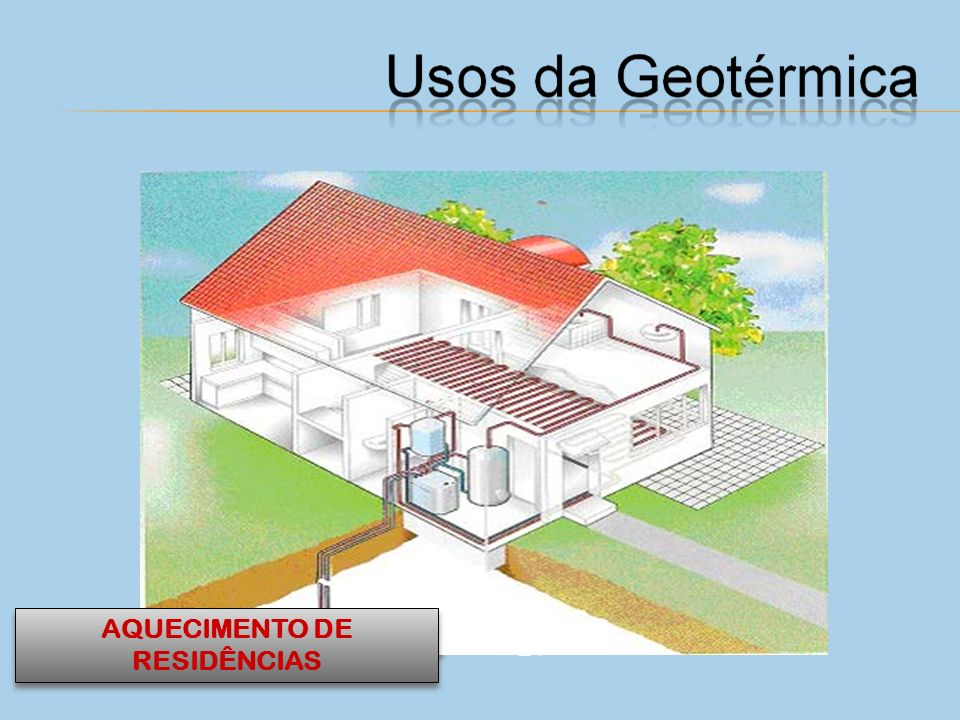 AQUECIMENTO DE RESIDÊNCIAS GERAÇÃO DE ELETRICIDADE