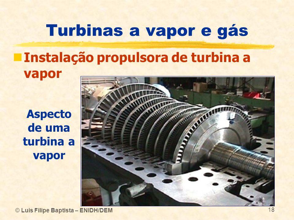 Aspecto de uma turbina a vapor