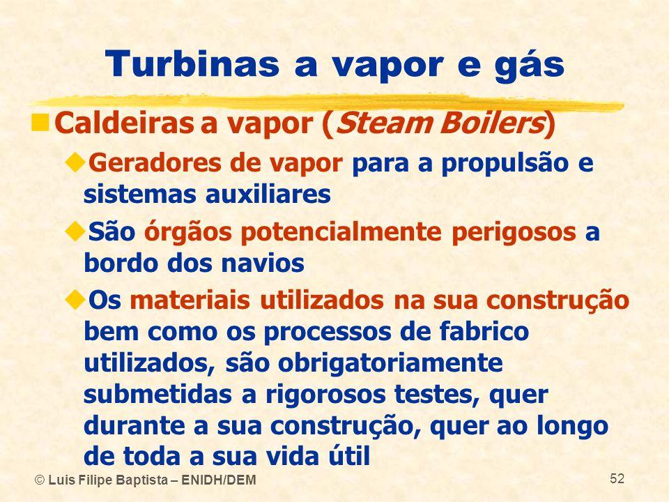 Turbinas a vapor e gás Caldeiras a vapor (Steam Boilers)