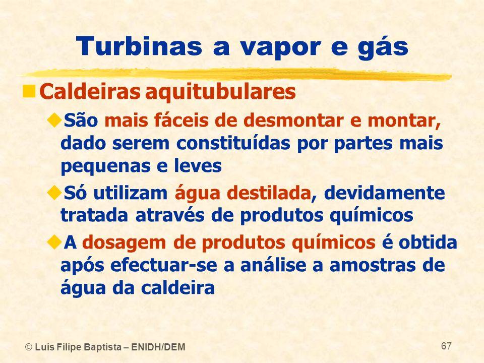 Turbinas a vapor e gás Caldeiras aquitubulares