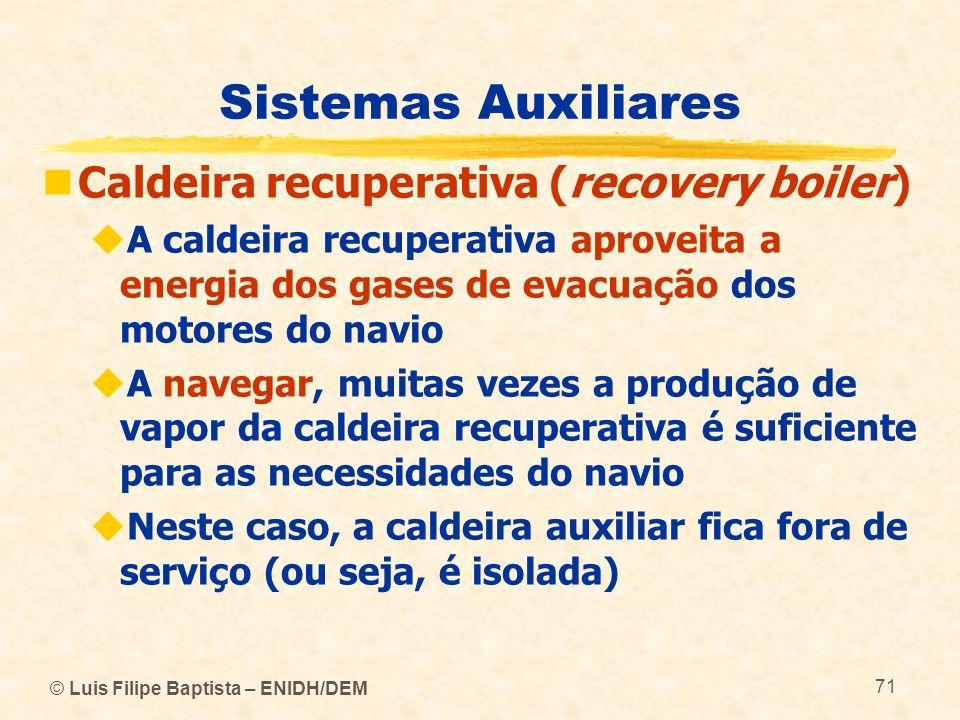 Sistemas Auxiliares Caldeira recuperativa (recovery boiler)