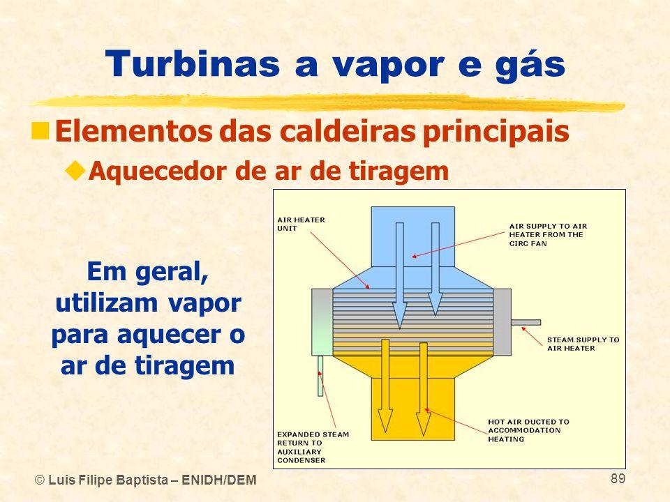 Em geral, utilizam vapor para aquecer o ar de tiragem
