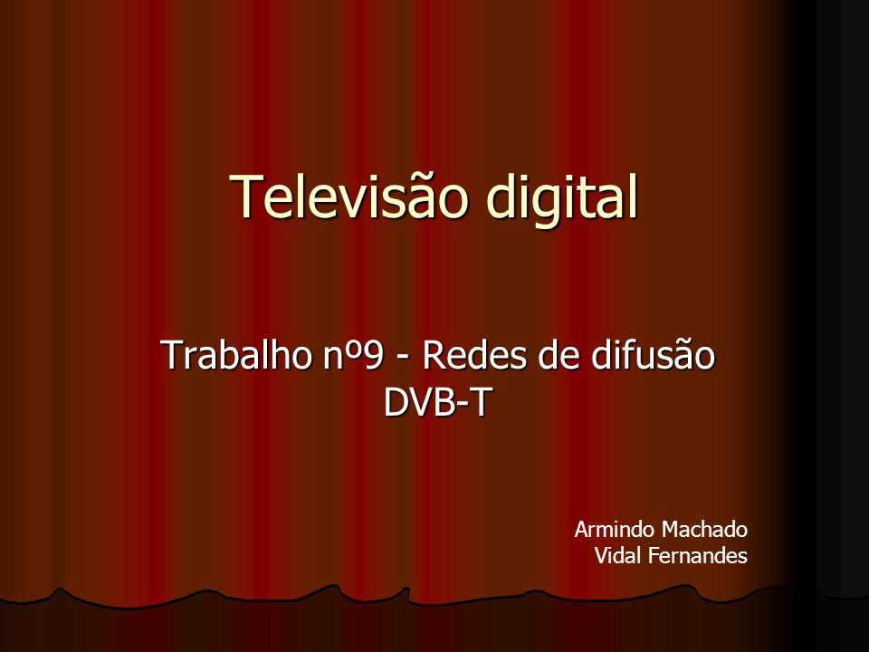 Trabalho nº9 - Redes de difusão DVB-T
