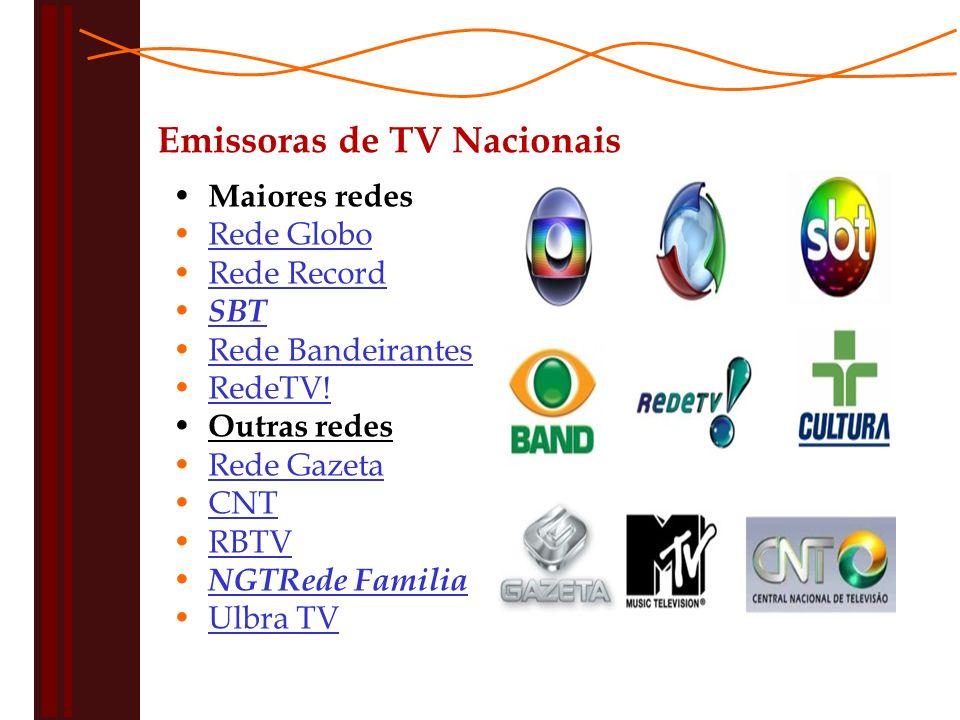Emissoras de TV Nacionais