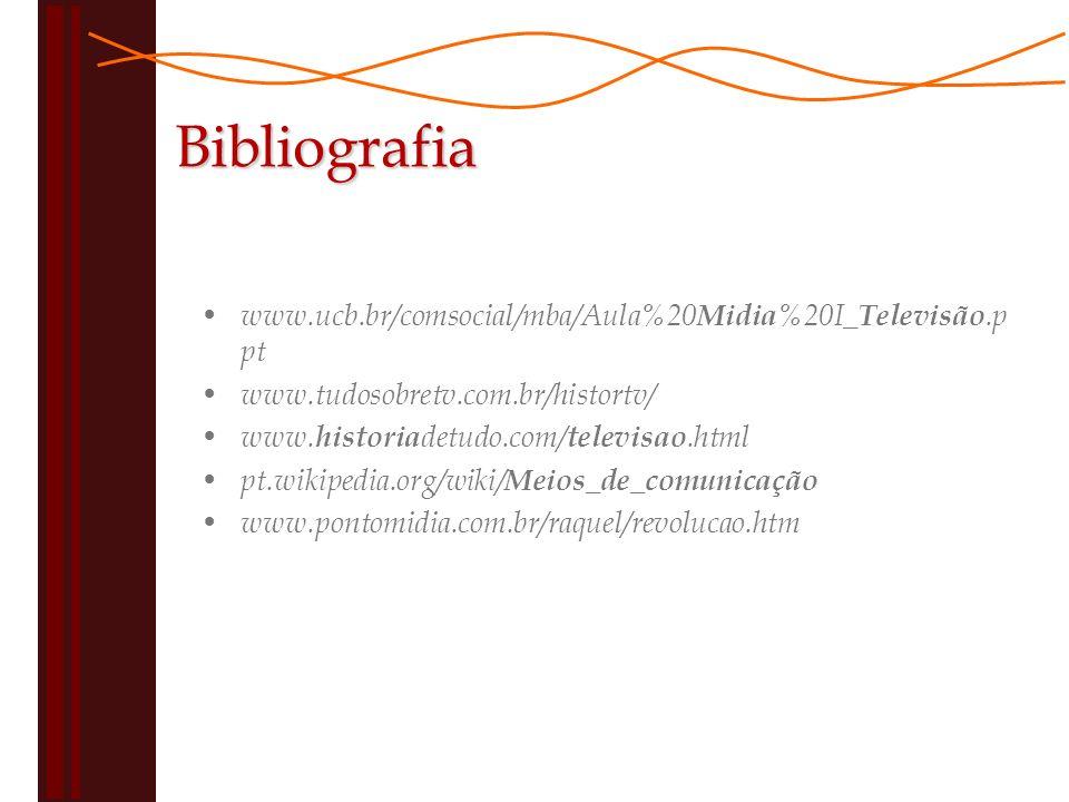 Bibliografia www.ucb.br/comsocial/mba/Aula%20Midia%20I_Televisão.ppt