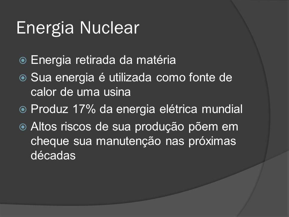 Energia Nuclear Energia retirada da matéria