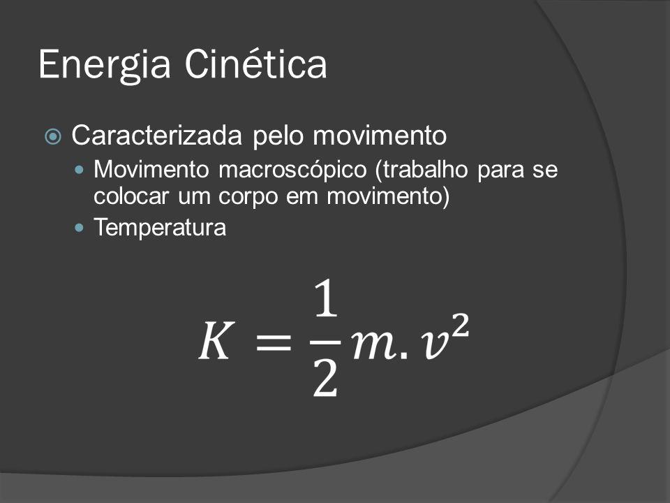 Energia Cinética Caracterizada pelo movimento