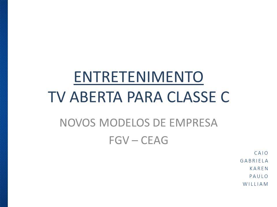 ENTRETENIMENTO TV ABERTA PARA CLASSE C