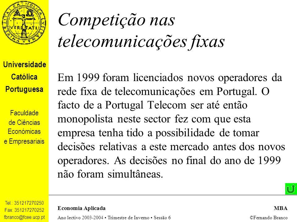 Competição nas telecomunicações fixas